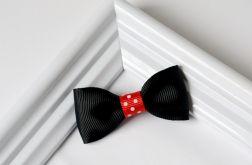 FairyBows * spinka KOKARDKA czarna + czerwony