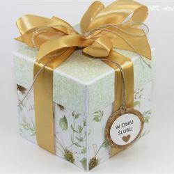 Ślubny exploding box-letnie kwiaty