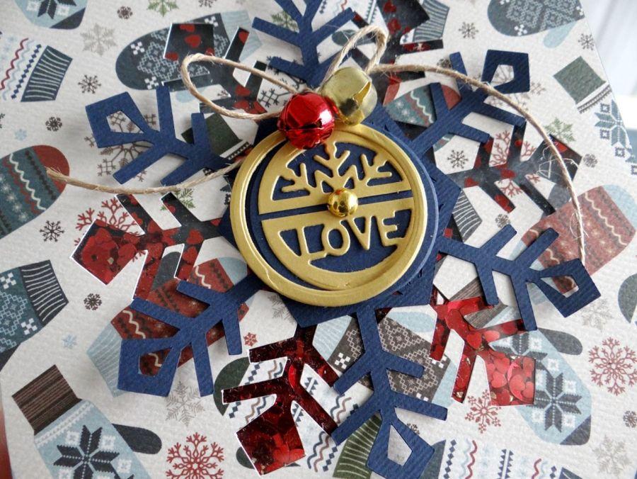 Kartka świąteczna ŚNIEŻYNKA SHAKER #2
