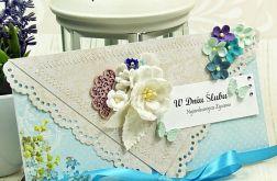 Kopertówka ślubna-niezapominajki