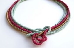 Naszyjnik bawełniane liny Ehines