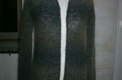 Cieniowany kardigan - narzutka wełna moher