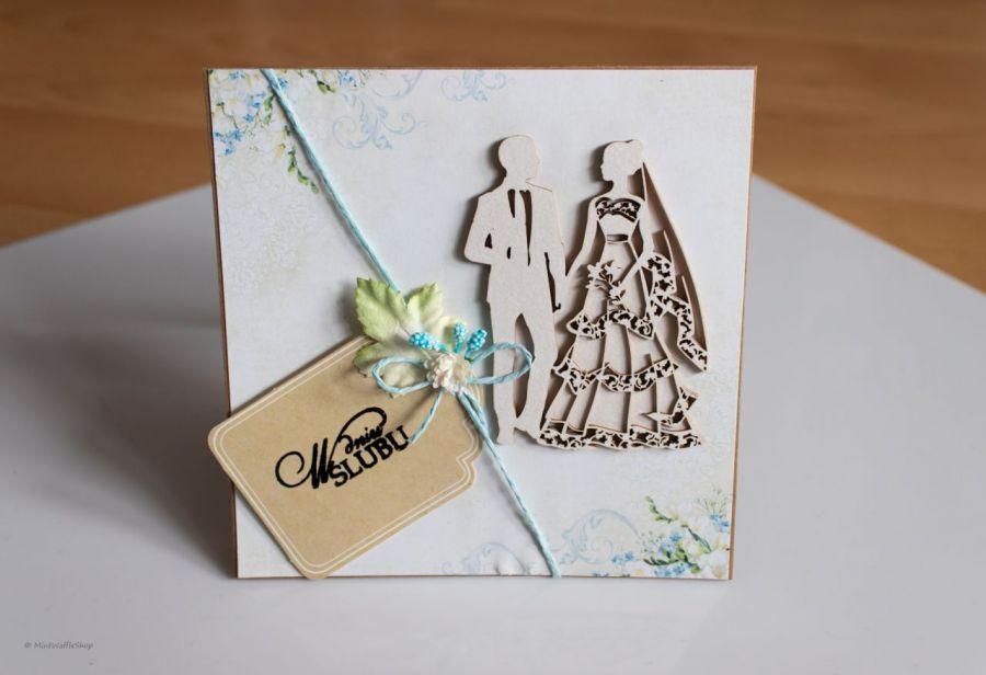 Kartka w dniu ślubu - Kartka