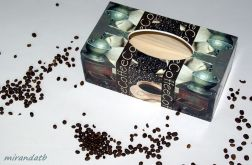 Chustecznik decoupage kawa ziarna