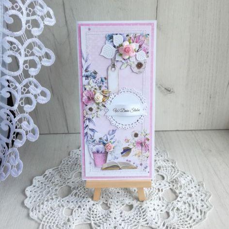 Kartka ślubna DL w pudełeczku v2