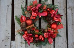 wianek Bożonarodzeniowy z kokardkami