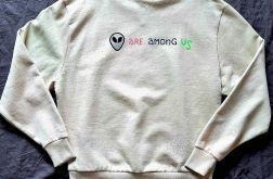 Bluza Alien ręcznie malowana unisex oversize