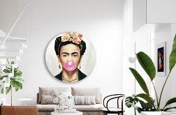 Frida Kahlo - Obraz na okrągłej ramie