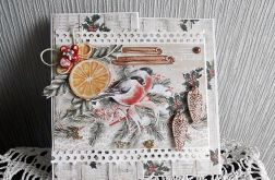 Przestrzenna kartka z ptaszkami
