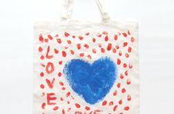 Bawełniana torba z serduszkiem nr7 eko