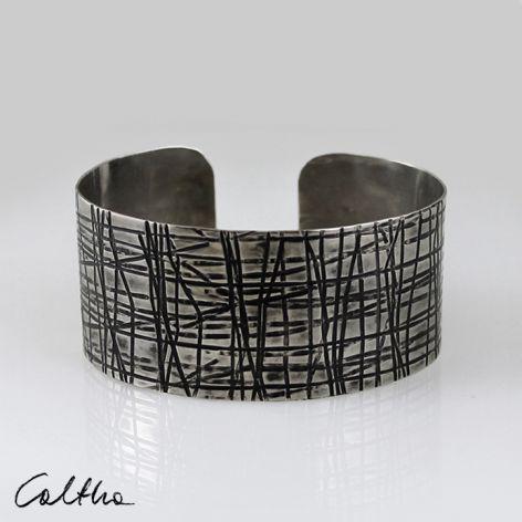 Metalowa bransoleta - kraty 150306-01