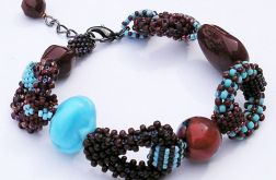 boho łańcuchowiec burgundy-turquoise