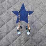 Kolczyki z serii Natura grona - 9 - Kolczyki rękodzieło handmade z kamieni