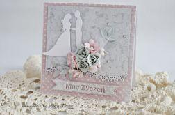 Kartka ślubna z parą (w pudełku)