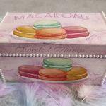 Drewniane pudełko ozdobne Macarons - Sweetest Things 2