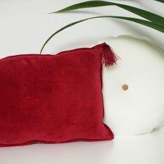 Poduszka okrągła śmietankowa-welur bawełniany