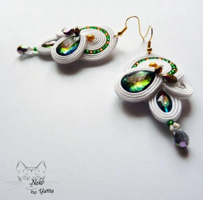 Solange - ślubne kolczyki sutasz