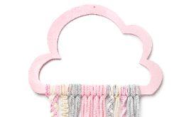 Łapacz snów na prezent dla dziewczynki, różowa chmurka