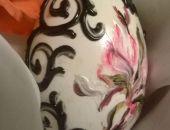 Gęsie jajeczko Lila z reliefem