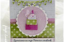 Zaproszenia na roczek,urodziny... WZÓR
