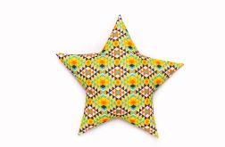 Poduszka gwiazdka - azteki jasne