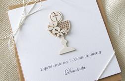 Eko Eleganckie zaproszenie na komunię wz.5