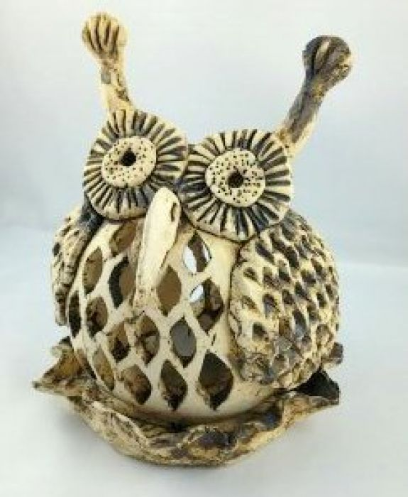 Lampion ceramiczna sowa