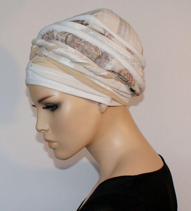 lekki turban CENNY - turban, szarfa zamotana wokół głowy