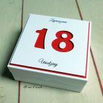 Zaproszenia na osiemnastkę 18  3d box
