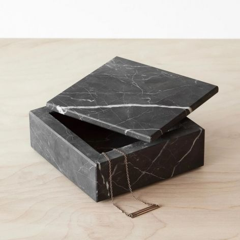 Taca marmurowa puzderko szkatułka Nero 15x15c