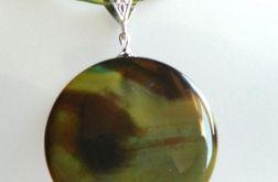 Agat w kolorze oliwki, wisiorek