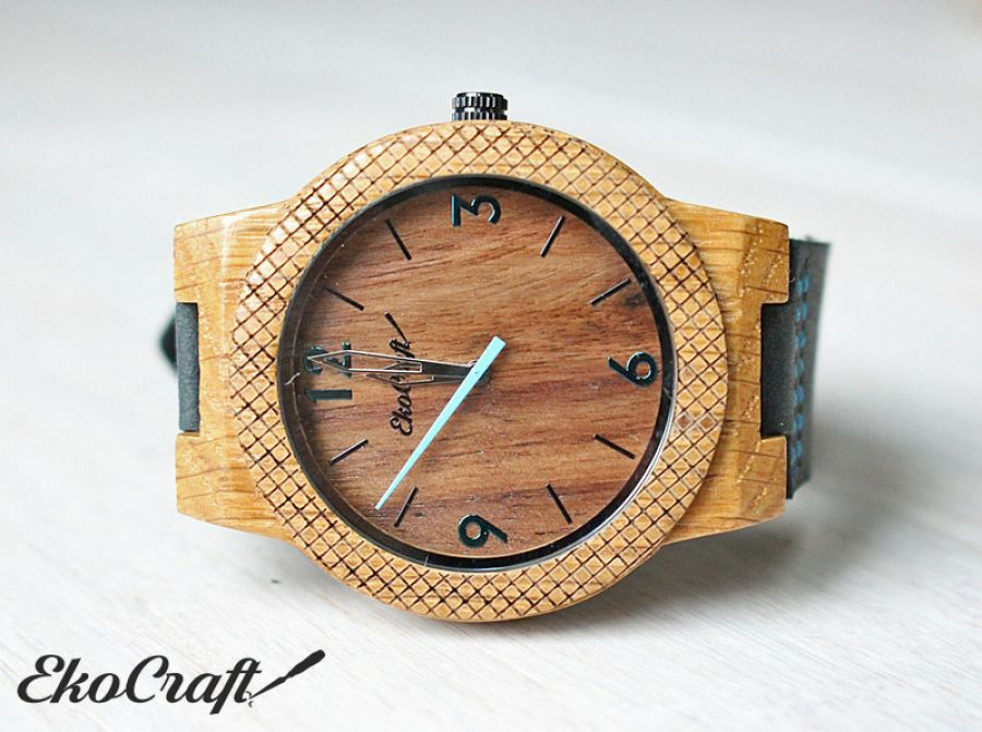 Drewniany zegarek WALNUT EAGLE OWL
