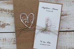 Oryginalna kartka ślubna z personalizacją 1