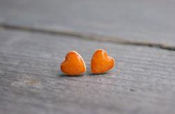 Kolczyki mandarynkowe serduszka