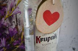 zawieszka na alkohol, serce