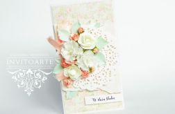 Komplet ślubny Pastelowe róże