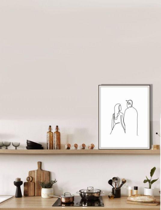 Grafika Kobieta i mężczyzna - Nawet w kuchni
