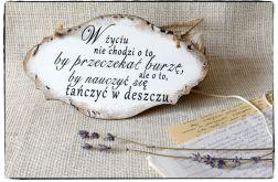 Szyld Tabliczka z napisem~Przeczekajmy burzę~