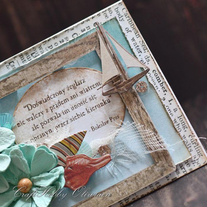 Doświadczony żeglarz... - w stylu marynistycznym - Żeglarska - detal II