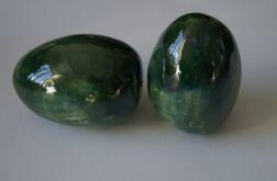 jajko ceramiczne butelkowa zieleń