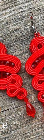 Czerwone kolczyki Bella