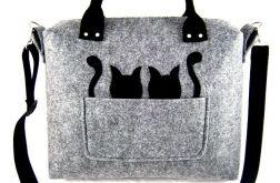 Grey & black cat/strap