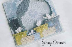 Kartka świąteczna w srebrze