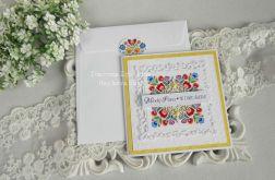 Ślubna kartka w kopercie 14