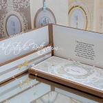 Karta ślubna No. 5 - Karta ślubna. Wykonana ręcznie. W delikatnych kolorach. Rozmiar 21,5 cmx10,5cm