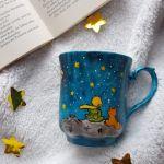 Kubek ręcznie malowany-Mały Książę- porcelana -