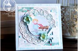 Delikatna wielowarstwowa kartka dla dziecka