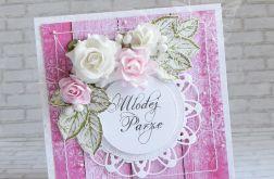 Ślubna kartka- w fuksji