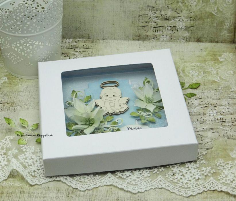 Pamiątka chrztu św. - aniołek - pamiątka chrztu dla chłopca