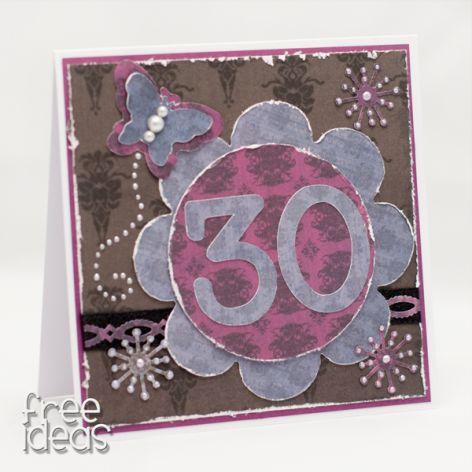Na 30-tkę kartka urodzinowa KU1804